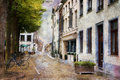 Street of Maastricht, Netherlands Royalty Free Stock Photography