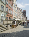 Street mariacka gdañsk poland europe vertical view of famous in Stock Photo