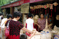 Street  market in China Royalty Free Stock Photos
