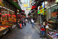 Street market in hong kong downtown Royalty Free Stock Photo