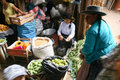 Street market of Mala Peru Royalty Free Stock Photo