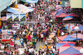 Street market in the Philippines Stock Photo