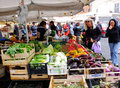 Street market in Rome, Italy Stock Images