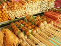 Street market snacks Stock Photo