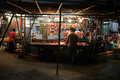 Street market wet market near temple st hong kong china april a butcher waits for customers at a stall Royalty Free Stock Photo