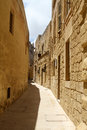 Street in mdina deserted malta Royalty Free Stock Photo