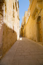 Street in mdina historic architecture malta southern europe Stock Images