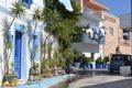 Street in modern part of kefalos greece september on a greek island kos Stock Photography