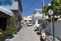 Street in modern part of kefalos greece september on a greek island kos Stock Images