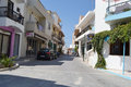 Street in modern part of Kefalos Royalty Free Stock Photo