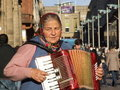 Street musician playing accordion Royalty Free Stock Photos