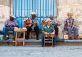 Street musicians in Havana Royalty Free Stock Photography