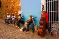Street musicians in Trinidad, Cuba Royalty Free Stock Photo