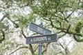 Street name signs Historic District Savannah GA US Royalty Free Stock Photo