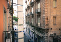 Street in naples italy photo was taken at summer around o clock near garibaldi square Stock Photos