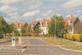 Street of new housing development in Suffolk, England Royalty Free Stock Photo