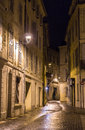 A street in night Avignon, France Royalty Free Stock Photo
