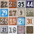 Street numbers Royalty Free Stock Photography