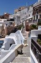 Street at Oia village of Santorini island Royalty Free Stock Photography
