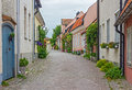 Street With Old Houses In A Sw...