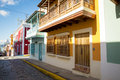 Street of old san juan in puerto rico Royalty Free Stock Photo