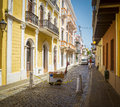 Street in Old San Juan, Puerto Rico Royalty Free Stock Photo