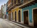 Street of old San Juan, Puerto Rico Royalty Free Stock Photo