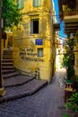Street in the old town of Chania, Crete, Greece. Royalty Free Stock Photo