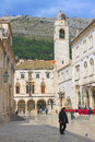 Street of the old town in dubrovnik croatia circa march Stock Photography