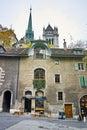 Street in Old town of Geneva, Switzerland Royalty Free Stock Photo