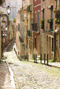 A street in the old town. Lisbon. Portugal Royalty Free Stock Photo