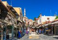 Street in Old Town. Rhodes Island. Greece Royalty Free Stock Photo