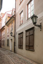 Street of the old town of riga latvia small in center Royalty Free Stock Photos