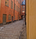 Street of old town, Stockholm Stock Photography