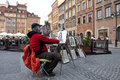 Street painter in Warsaw Stock Photos