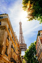 Street of Paris in summer Royalty Free Stock Photo