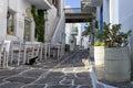 Street in paros island cyclades greece Stock Photography