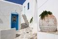 Street in paros island of greece Stock Photo