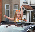 Street party girl Royalty Free Stock Photo