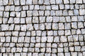 Street paved with cobblestone textures and background Royalty Free Stock Photo