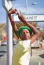 Street Performance near Mandela's house Stock Image