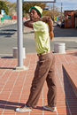 Street Performance near Mandela's house Royalty Free Stock Image