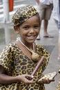 Street performers during the carnival festival rio de janeiro brazil february entertaining tourist Royalty Free Stock Photo