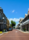Street Perspective in Historic Fremantle Royalty Free Stock Photo