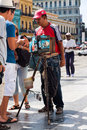 Street photographer in Old Havana Royalty Free Stock Photo