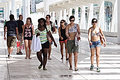 Street photography people walking in the street these are some date th august place malaga spain event Royalty Free Stock Photography