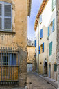 Street in provencal village view of a little the town of brignoles provence south of france Royalty Free Stock Photo