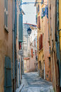 Street in provencal village view of a little the town of brignoles provence south of france Stock Images