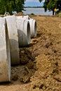 Street repair with an excavator