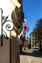 Street of Riga in the holiday Royalty Free Stock Photo